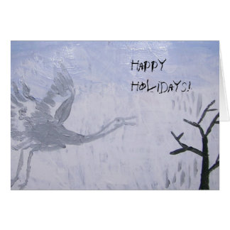Happy Holidays Whooping Crane Card