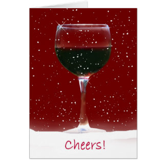 Happy Holidays Wine Christmas Card