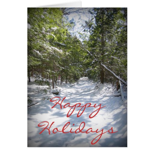 Happy Holidays - Winter Trail Card