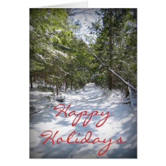 Happy Holidays - Winter Trail Greeting Card