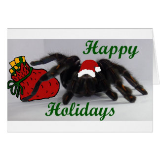 Happy Holidays! ... with a Tarantula? Card