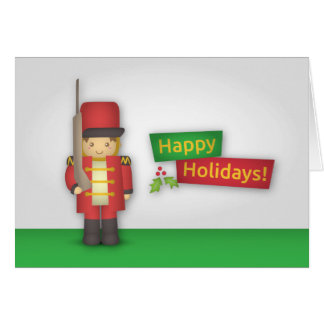 Happy Holidays with Christmas Nutcracker Soldier Card