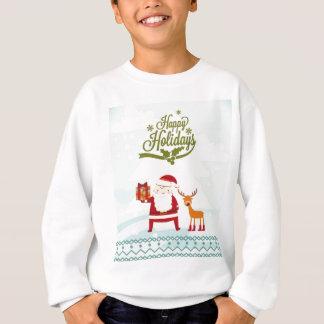 Happy Holidays with Santa Claus and Rudolf Sweatshirt
