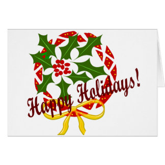 Happy Holidays wreath note card