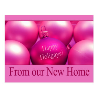 Happy Holigays From our New Home Postcard