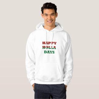 happy holla days mens hooded hoodie sweatshirt
