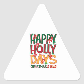 Happy Holly days Christmas 2012 Sticker