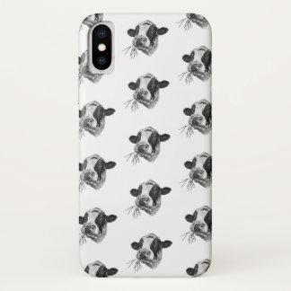 Happy Holstein Friesian DairyPreserver (white) iPhone X Case