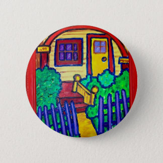 Happy Home by Piliero 2 Inch Round Button