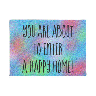 HAPPY HOME Cheerful Colorful Design Doormat
