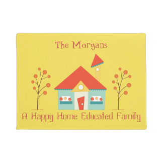 Happy Home Educated Family Welcome Doormat