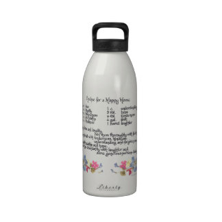 Happy Home Recipe Water Bottle