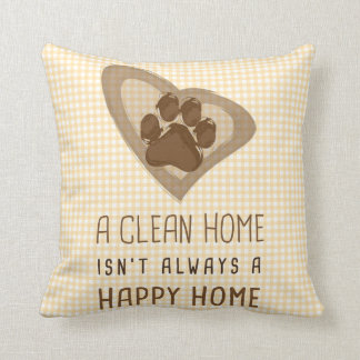 Happy Home Throw Pillow