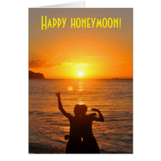 Happy honeymoon card