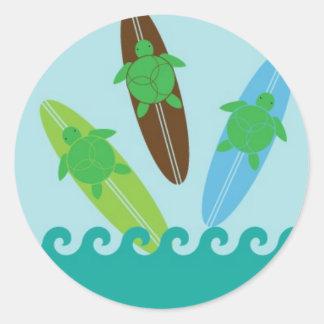 Happy Honu Loves Surf Sticker