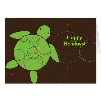 Happy Honu Sea Turtle Holiday Christmas Card