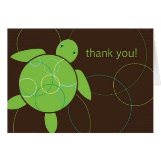 Happy Honu Thank You Card - Brown