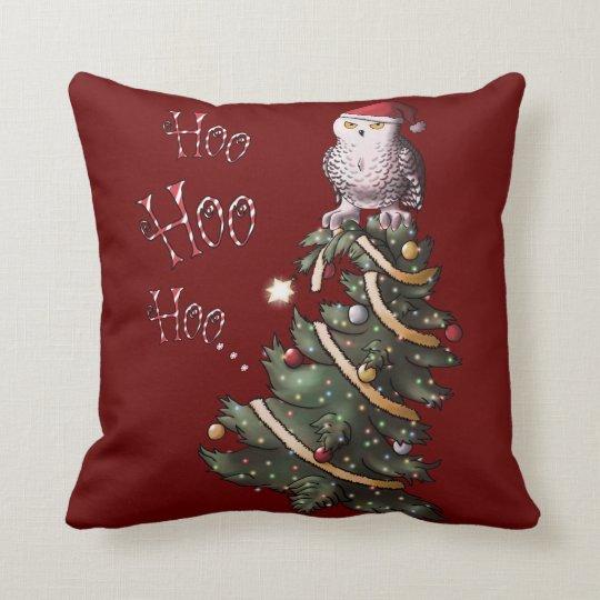Happy Hoolidays Throw Pillow