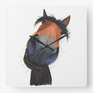 Happy Horse 'Happy Dave' by Shirley MacArthur Clocks