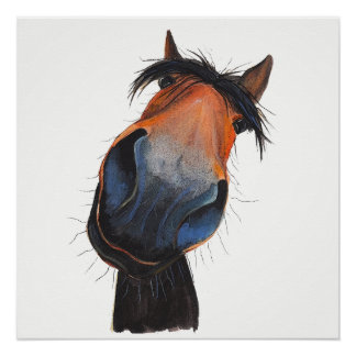 Happy Horse 'Happy Dave' by Shirley MacArthur Poster