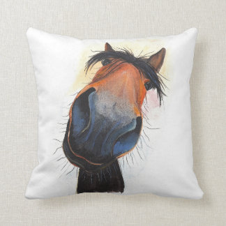 Happy Horse ' Happy Dave ' Throw Pillow Cushion