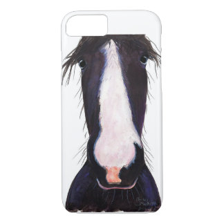 Happy Horse ' JeFF ' by Shirley MacArthur iPhone 8/7 Case