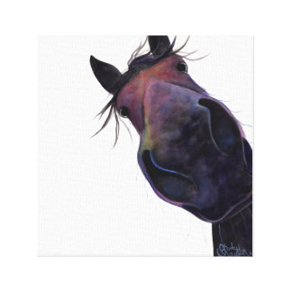 Happy Horse ' SLOE GIN GERRY ' Canvas Print