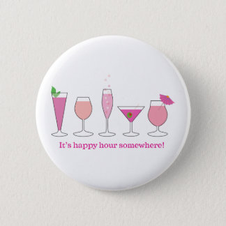 happy hour 2 inch round button