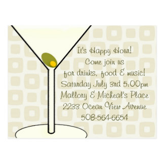 Happy Hour Invitation Postcard
