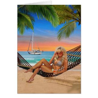 Happy Hour on the Beach Card