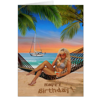 Happy Hour on the Beach Card