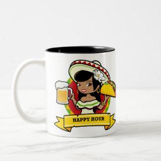 Happy Hour Taco Two-Tone Coffee Mug