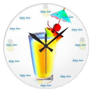Happy Hour Umbrella Drink Large Clock