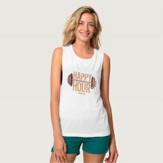 Happy Hour Weightlifting Gym Workout Ladies Tank Top
