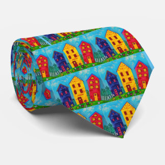 Happy Houses Tie