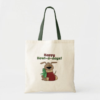 Happy Howl-a-Days Pooch Canvas Bag