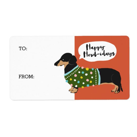 Happy Howl-idays Shipping Label