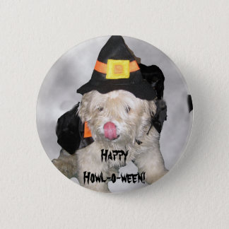 Happy Howl-o-ween! 2 Inch Round Button