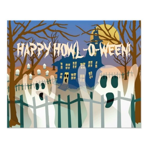 Happy Howl-O-Ween Flyer