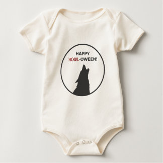 Happy Howl-oween Werewolf Halloween Design Baby Bodysuit