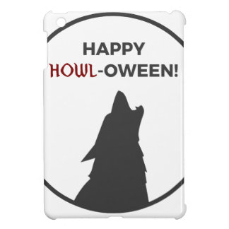 Happy Howl-oween Werewolf Halloween Design iPad Mini Case