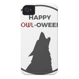Happy Howl-oween Werewolf Halloween Design iPhone 4 Case-Mate Case