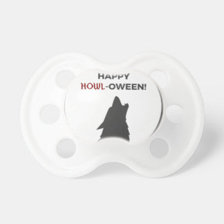 Happy Howl-oween Werewolf Halloween Design Pacifier