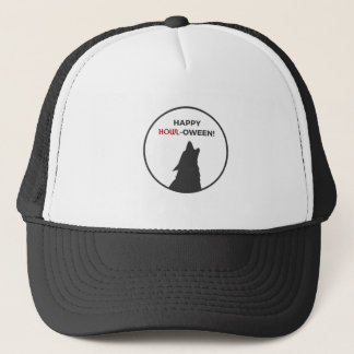 Happy Howl-oween Werewolf Halloween Design Trucker Hat