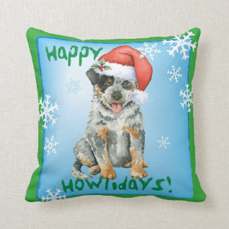 Happy Howliday ACD Throw Pillow