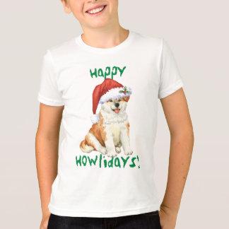Happy Howliday Akita T-Shirt