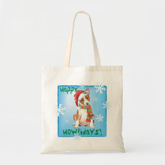 Happy Howliday Basenji Tote Bag