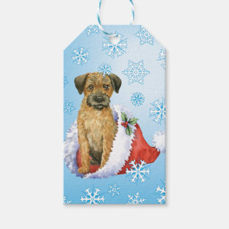 Happy Howliday Border Terrier Gift Tags
