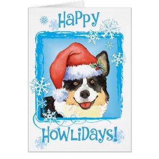 Happy Howliday Cardigan Welsh Corgi Card