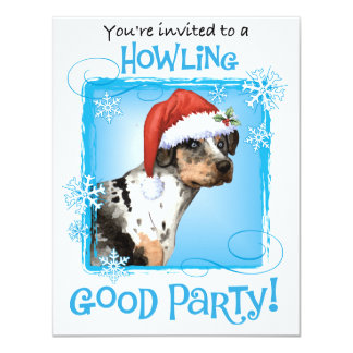 Happy Howliday Catahoula Card